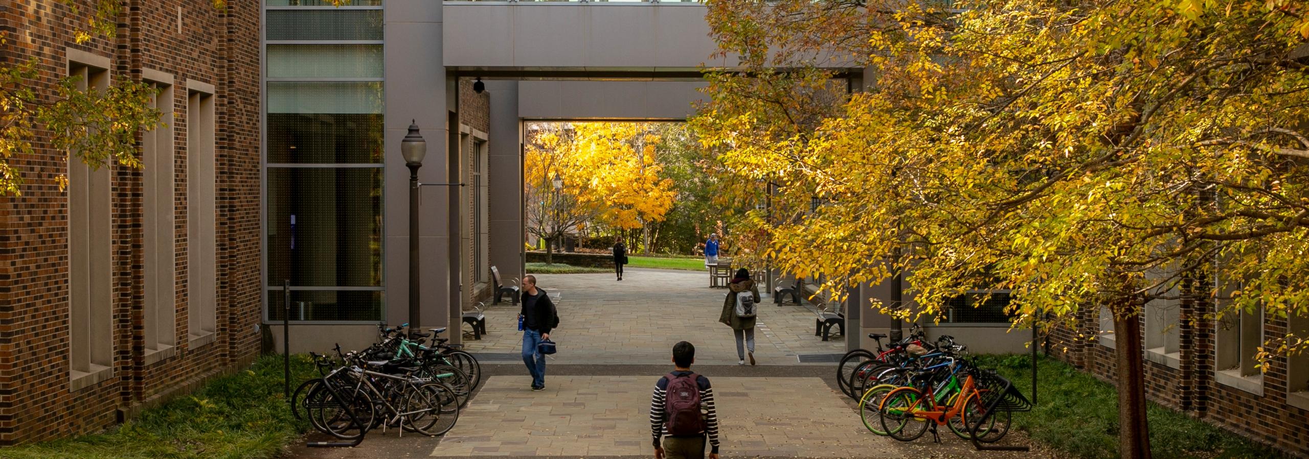 Duke Engineering campus in autumn