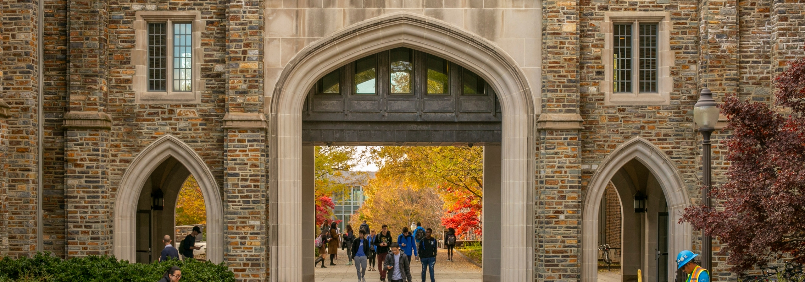 Gothic pointed archway at Duke University
